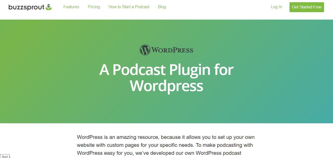 Buzzsprout WordPress Plugin