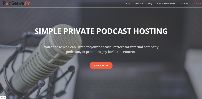 podserve.fm private podcasting