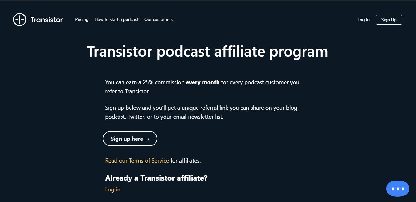 transistor.fm Affiliate Program