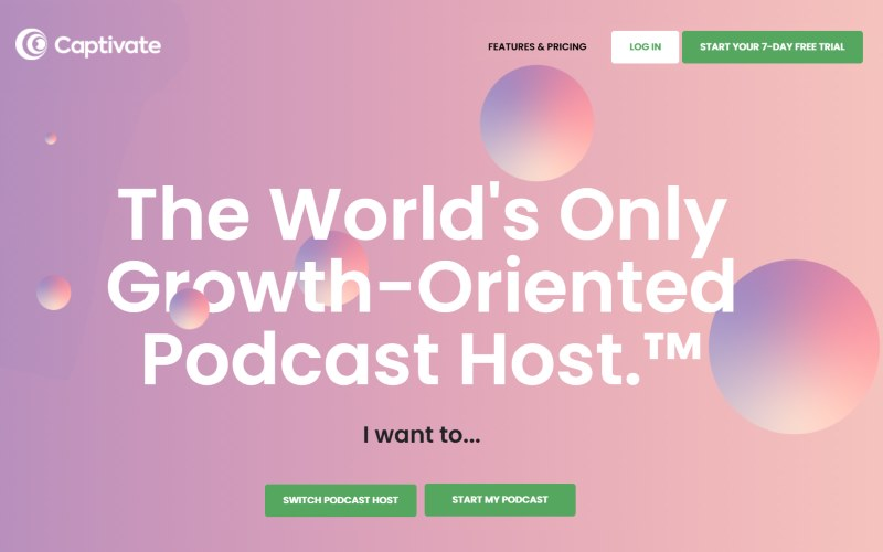 Captivate is an innovate up and coming podcast hosting company that listens to the needs of its users